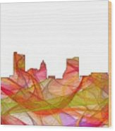 Fort Wayne Indiana Skyline Wood Print