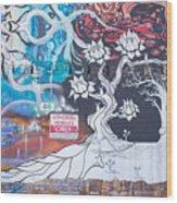 Freak Alley Boise Wood Print