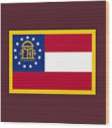 Georgia Flag Wood Print