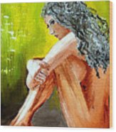 Girl Nude Wood Print