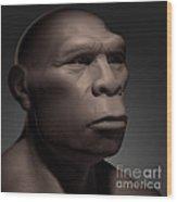 Homo Erectus Wood Print