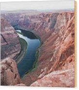 Horseshoe Bend Colorado River Arizona Usa Wood Print