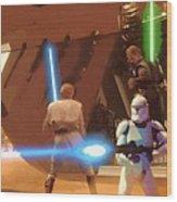 Jedi Star Wars Poster Wood Print