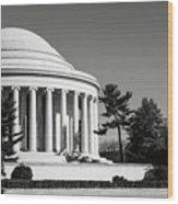 Jefferson Memorial In Washington Dc Wood Print