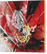 Joe Bonamassa Blues Guitarist Art. Wood Print