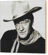 John Wayne, Vintage Actor By Js Wood Print