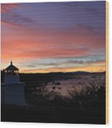 Lighthouse Sunrise Series Wood Print
