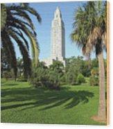 Louisiana State Capitol Wood Print