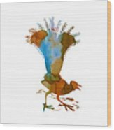 Lyrebird Wood Print