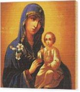 Madonna Enthroned Christian Art Wood Print