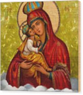 Mary And Child Religious Art Wood Print