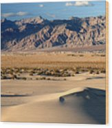 Mesquite Sand Dunes In Death Valley National Park Wood Print