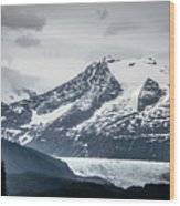Mountain Range Scenes In June Around Juneau Alaska Wood Print