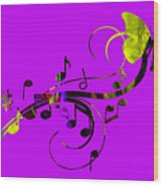 Music Flows Collection Wood Print