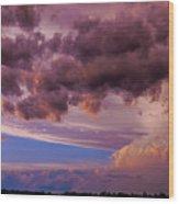Nebraska Hp Supercell Sunset Wood Print
