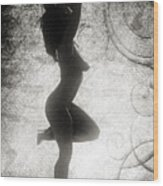 Neemah African American Nude Girl In Sexy Sensual Black And Whit Wood Print
