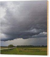 Non Severe Nebraska Thunderstorms Wood Print