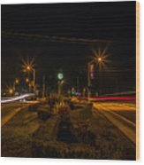 6 O'clock Traffic Wood Print
