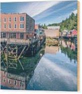Old Historic Town Of Ketchikan Alaska Downtown Wood Print