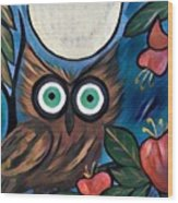 Owl Midnight Wood Print
