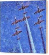 Painting Of Iskra Polish Air Force Team Wood Print