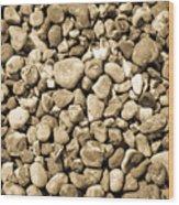 Pebbles 4 Wood Print