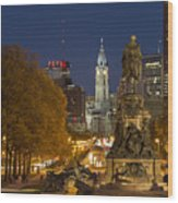 Philadelphia Skyline Wood Print by John Greim