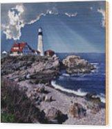 Portland Head Lighthouse Wood Print