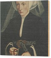 Portrait Of A Lady Holding A Rosary Wood Print