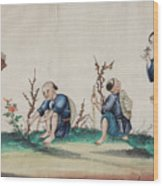 Portraying The Chinese Tea Traders Wood Print