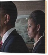President And Michelle Obama Wood Print