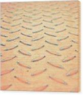Red Metal Wood Print