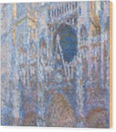 Rouen Cathedral, West Facade Wood Print