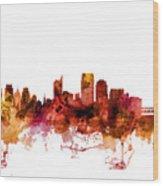 Sacramento California Skyline Wood Print