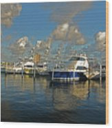 6- Sailfish Marina Wood Print