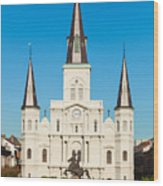 Saint Louis Cathedral Wood Print