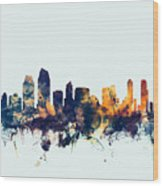 San Diego California Skyline Wood Print