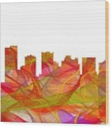 Scottsdale Arizona Skyline Wood Print