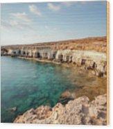 Sea Caves Ayia Napa - Cyprus Wood Print