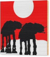Star Wars At-at Collection Wood Print
