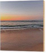 Sunrise Beach Seascape Wood Print