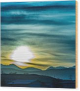 Sunrise Over Colorado Rocky Mountains Wood Print