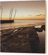 Sunset At Basanija Wood Print