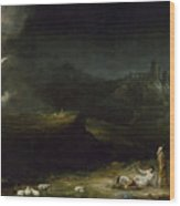 The Angel Appearing To The Shepherds Wood Print