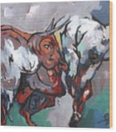 The Bulls Wood Print