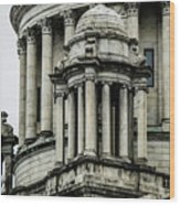 The Rhode Island State House On Capitol Hill In Providence Wood Print