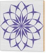 6 Third Eye Chakra Wood Print