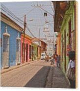 Traversing Santiago De Cuba, Cuba. Wood Print