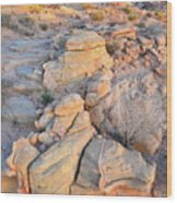 Valley Of Fire Sunrise Wood Print