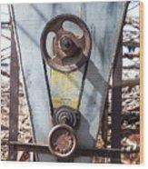 Vintage Grain Elevator Wood Print